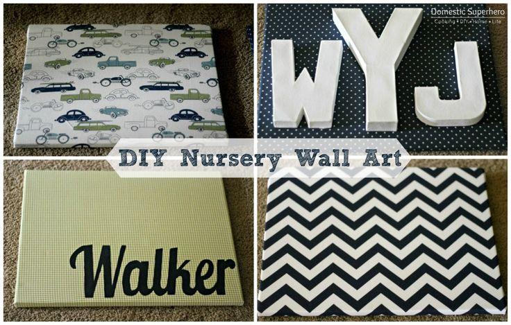 Diy Wall Decor Nursery : Diy nursery wall art and a tour