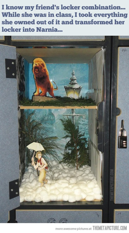 Narnia--in another very unexpected place, as it should be!
