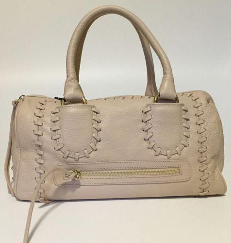handbag-borsa-BLUMARINE-bauletto-pelle-soffice-lavorata-doppio-manico-anelli-oro
