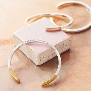 Personalised Dipped Bar Bangle - Dreaming of a tropical getaway and all things summer holidays? Well, the weather folk have spoken — the sun is coming! Grab a fruit cup, lather on some sunscreen and indulge yourself with these glorious summer goodies.