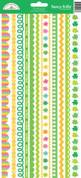 Doodlebug Design - Happy-Go-Lucky Collection - Cardstock Stickers - Fancy Frills