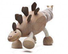 Anamalz Stegosaurus wooden toy figure   www.minizoo.com.au