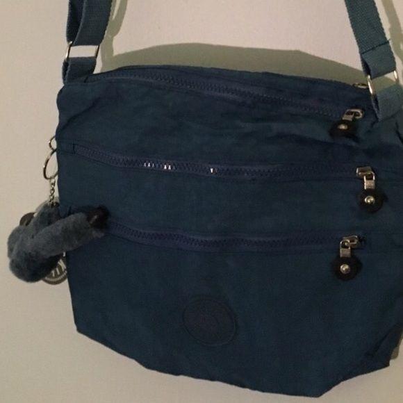 Blue Kipling Alvar Shoulder Bag NWT Brand new, cute blue Kipling bag. Kipling Bags Shoulder Bags