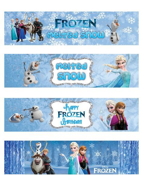 Awesome Free Template Free Printable Frozen Bottle Labels Manuela