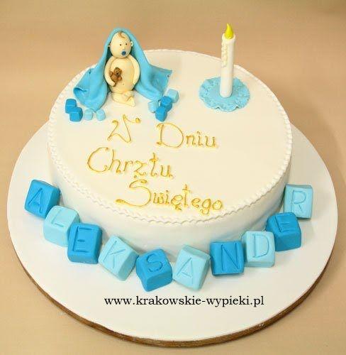 Tort z okazji Chrztu Świętego