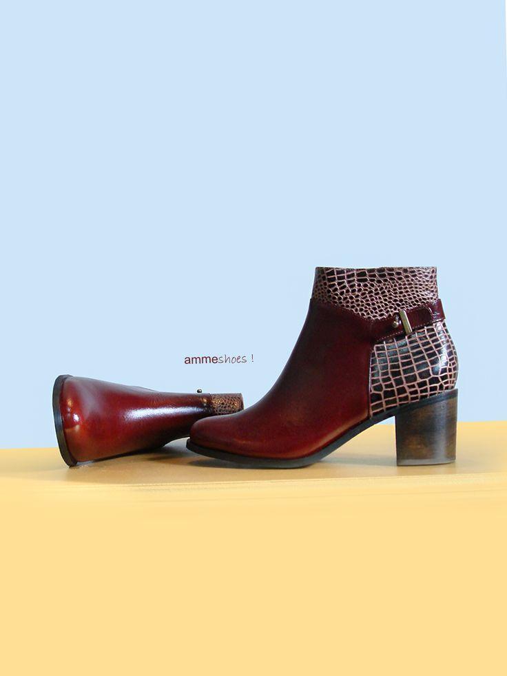 Botines en cuero #botas #cuero #diseño #amme #zapatos