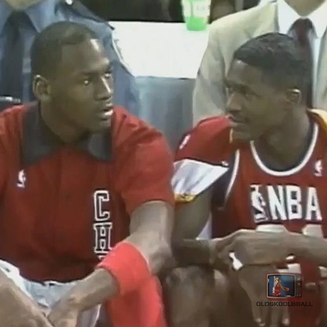 CAPTION THIS  Jumpman23    dominiquewilkins21 in 1987 All-Star Game ... 2aed35747a52
