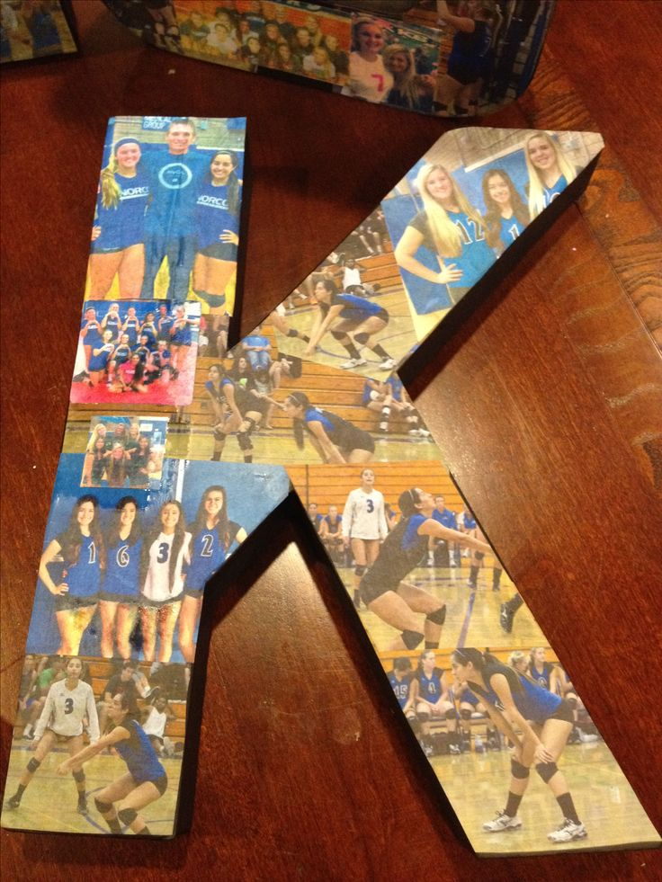I think that this would be a cool and creative craft to do with all of my daughters volleyball pictures.