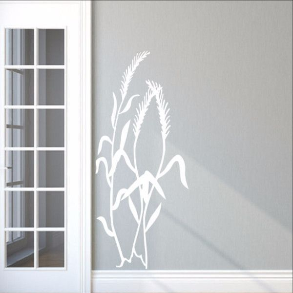 Sea Oats Sea Grass Style D Beach Vinyl Wall Decal 22425