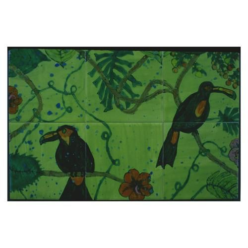 Toucan Mural Tiles by Hardin Tiles on HomePortfolio
