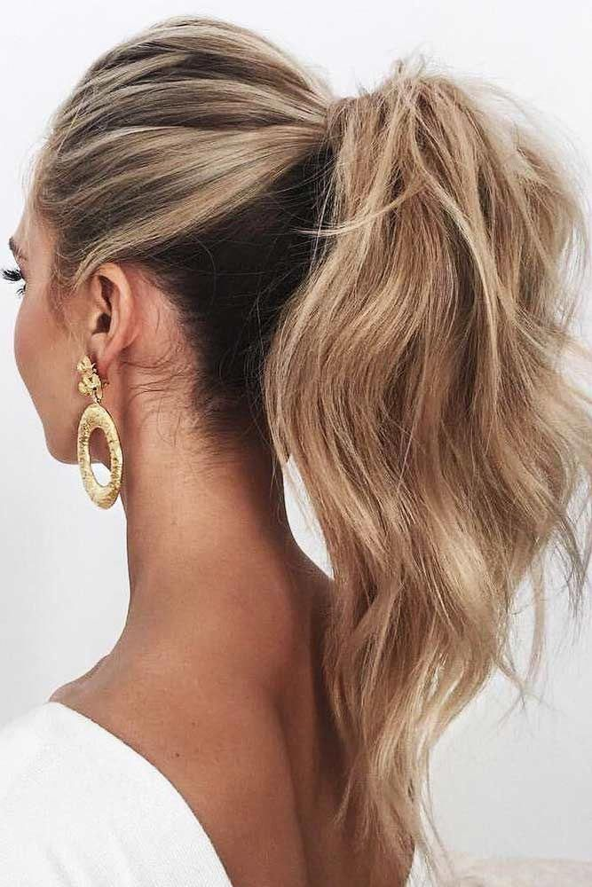 Stylish Easy Hair Styles Shorteasyhairstyles Guest Hair High Ponytail Hairstyles Casual Wedding Hair