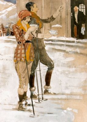 Pieter 'Piet' van der Hem (Wirdum 1885-1961 Den Haag) Après-ski