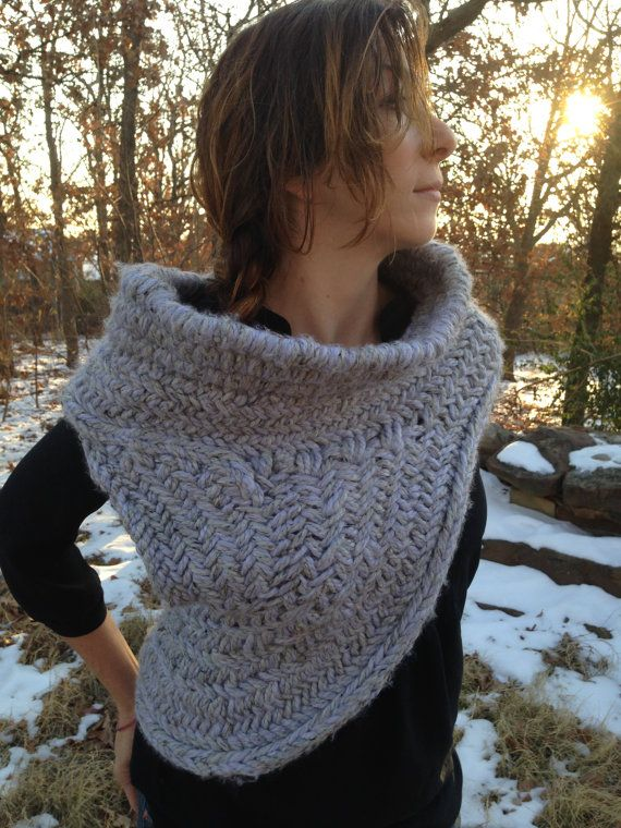 Katniss Hunting Cowl with Vest - Knitting Pattern inspired by The Hunger Game...