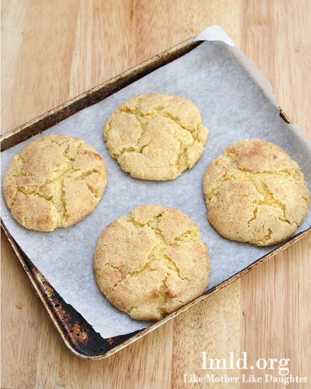 snickerdoodle cookies for 2 from Like Mother, Like Daughter Food