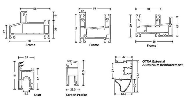 Upvc Windows Detail : Upvc sliding windows design torfenster architectural