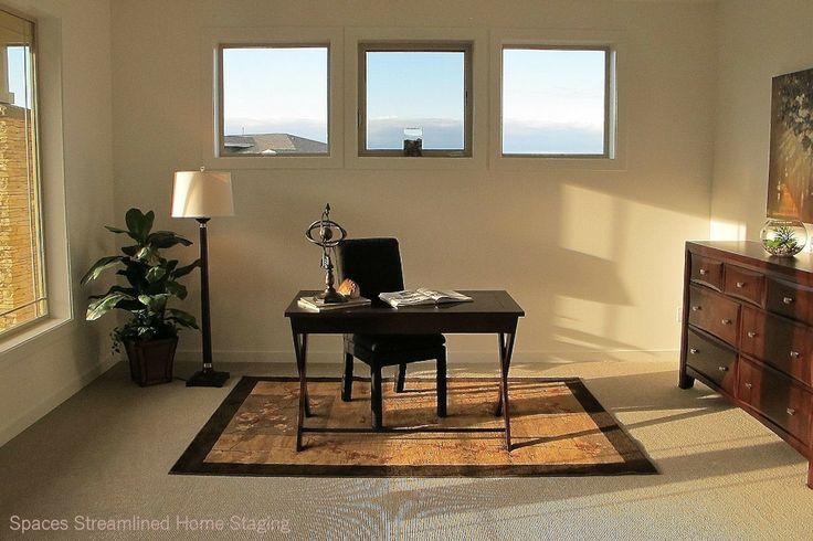 home office staging. Black Bedroom Furniture Sets. Home Design Ideas