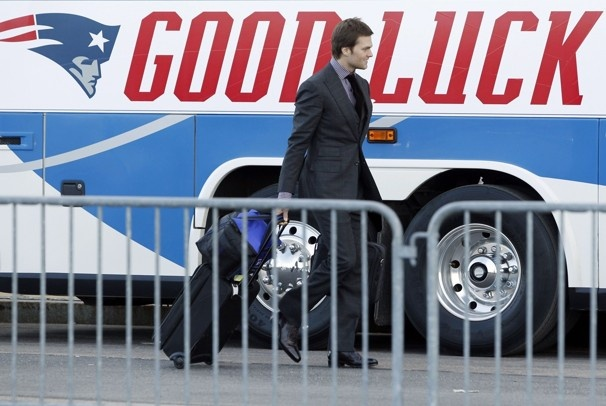 Brady off to the Super Bowl.