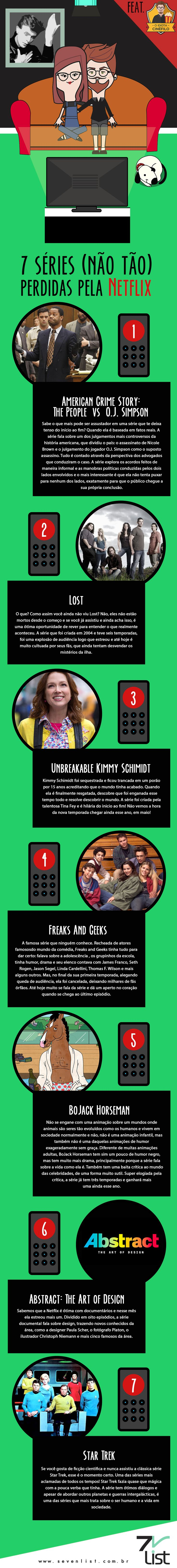 Nós sabemos o quanto você ama dicas do que assistir na Netflix, e nós também. Hoje o Idiota Cinéfilo listou 7 séries (Não tão) perdidas pela Netflix que vocês precisa ver. #SevenList #Blog #Brasil #Tvshow #OdiotaCinéfilo #Netflix #DicasNetflix #Séries #Maratona #Tv #Love #DicasdeSerie