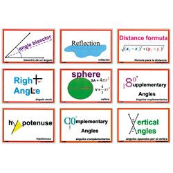 Word Wall Posters - Geometry Part 1 (48 Cards) ~ Charts/Posters