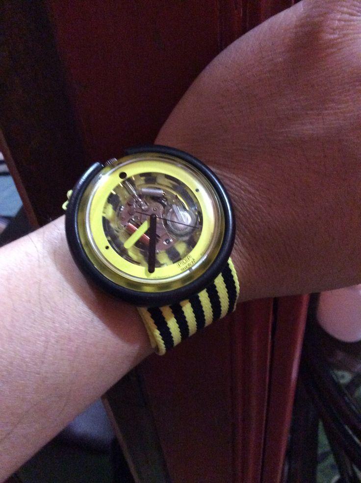 My yellow zebra pop swatch