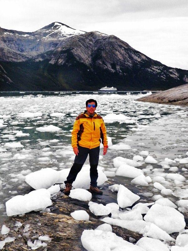 Glaciar Pía , cordillera Darwin , canal Beagle, cruceros Australis