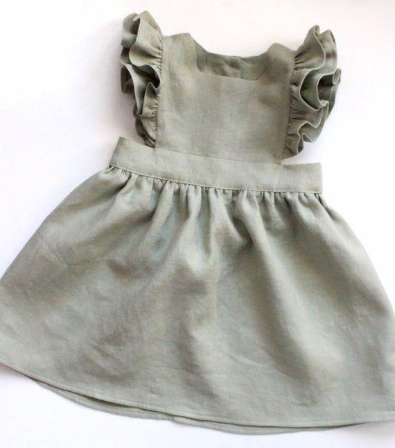 baby pinafore pinafore Linen pinafore linen dress pinafore dress linen baby dress