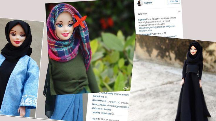 Kuvakaappaukset Instagram: Hijarbi-niminen nukke esittelee muslimimuotia suositulla Instagram-tilillä.  Copyright: Instagram.