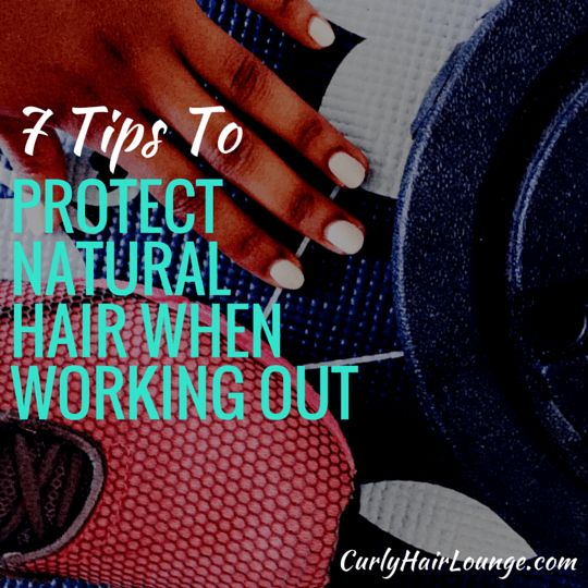 If you're natural or transitioning to natural  hair and find it hard to manage exercise and having natural hair and need a few tips to deal with sweat or to protect your curly hair these 7 tips will help you. Click to read or pin and read later.