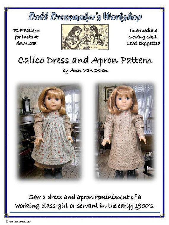 PDF Pattern for Edwardian style Calico Dress by AnnVanDorenDesigns