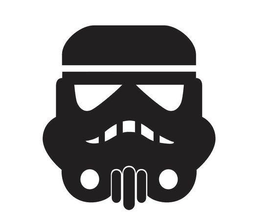 Star Wars Stormtrooper Helmet Custom Vinyl Graphic By