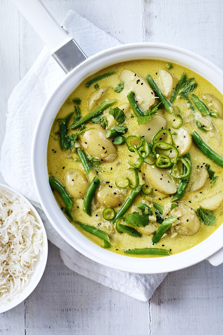 Green bean and new potato coconut curry - a simple curry using the best of Britain's spring harvest.