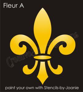 STENCIL Fleur de lis French Shabby Motif Fluer Template sign