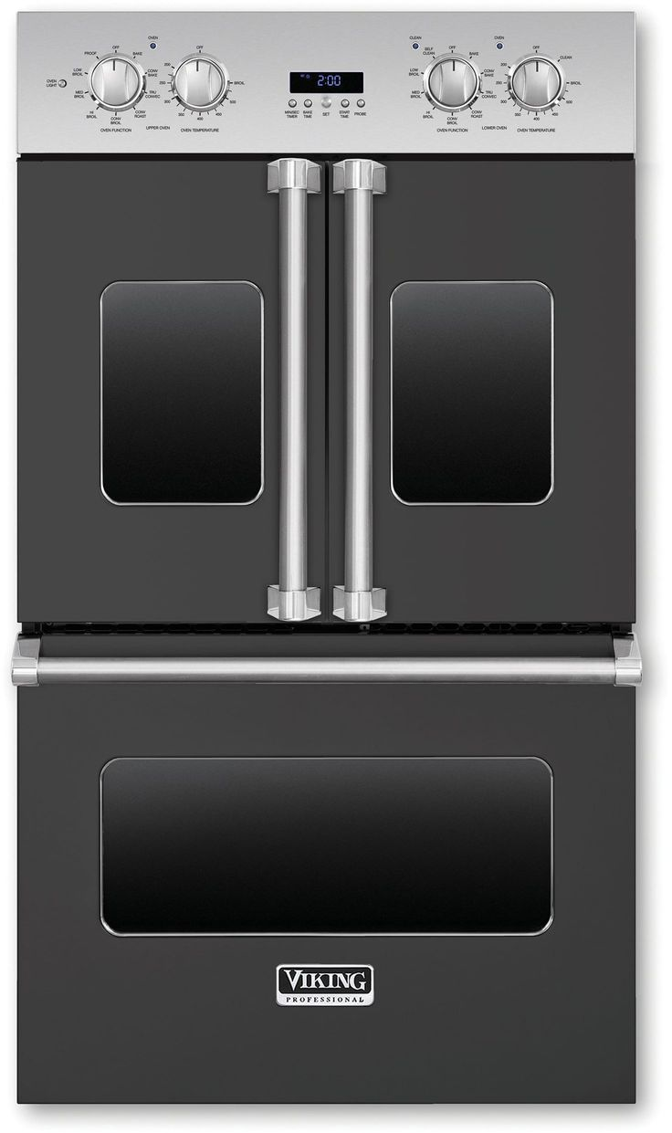Viking VDOF730GG 30 Inch Double Electric French Door Oven with 4.7 cu. ft. Vari-Speed Dual Flow Convection Ovens, 11 Cooking Modes, Infrared Broiler, Meat Probe, Rapid Preheat and Self Clean with Steam: Graphite Gray