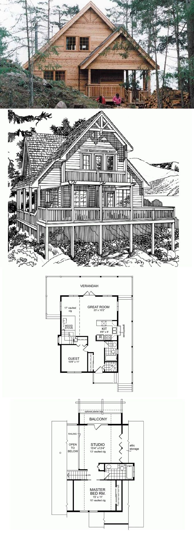172 best house plans images on pinterest magnolia homes eplans cottage house plan rear view orientation 1333 square feet and 2 bedrooms from eplans house plan code