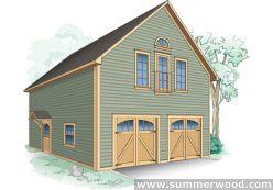25 best ideas about prefab garage kits on pinterest for Log garage kits with loft