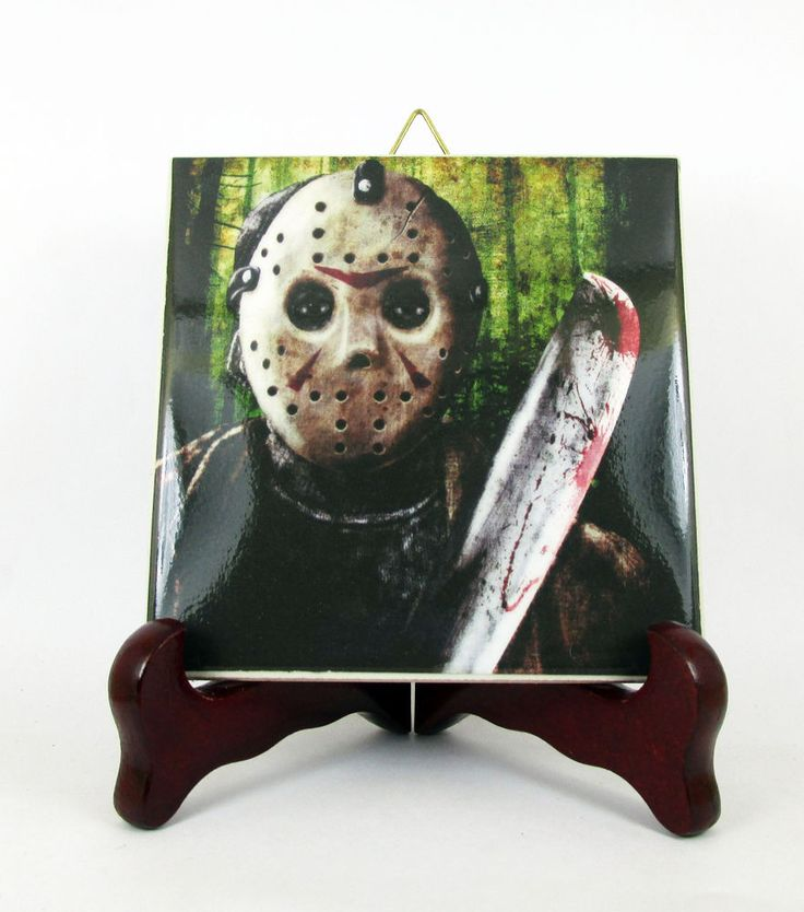 Friday the 13th Jason Voorhees Ceramic Tile Limited Edition fanart inspired