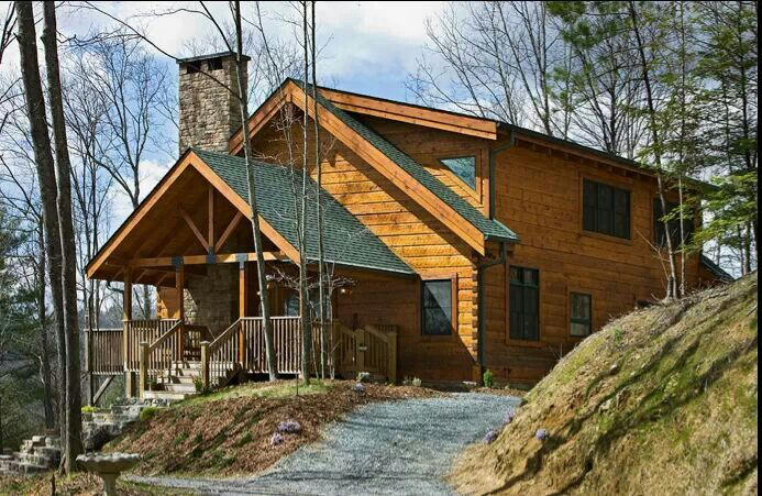 Hillside Dream Home Ideas Pinterest Log Cabins Logs