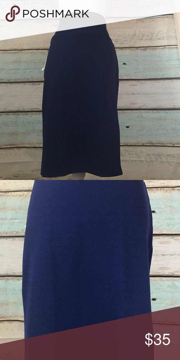 LuLaRoe size medium navy blue Cassie pencil skirt LuLaRoe size medium navy blue Cassie pencil skirt. New with tags.  ❤️Price is firm unless bundled LuLaRoe Skirts Pencil