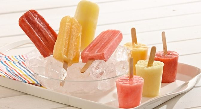 Start with a base of simple syrup then add pineapple and coconut extract for a refreshing frozen fruit pop to cool you off this summer.