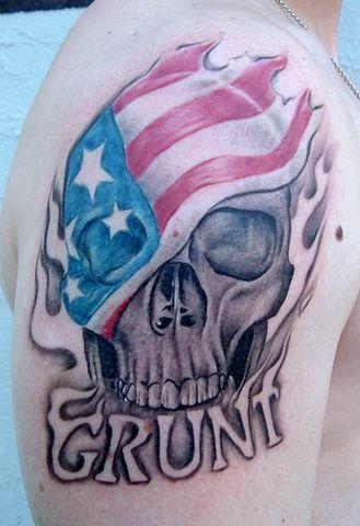 36 best american flag skull tattoo images on pinterest skull tattoos tattoo ideas and american fl. Black Bedroom Furniture Sets. Home Design Ideas