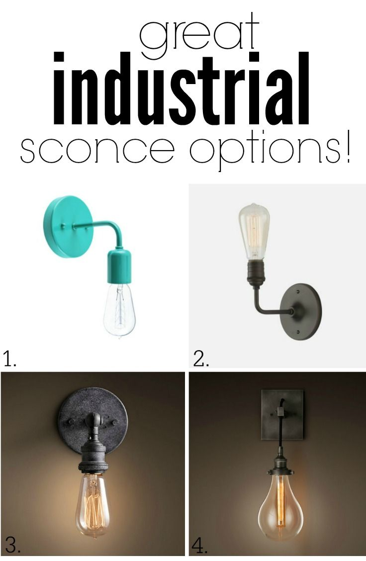 Great industrial wall sconce options for a living room upgrade!