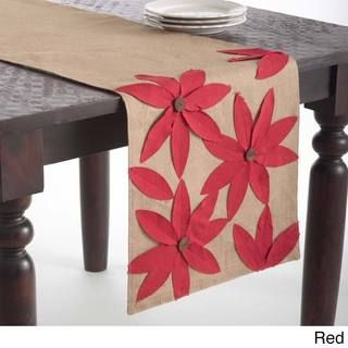 This Flower Design Jute Table Runner offers a fun table setting with textured…