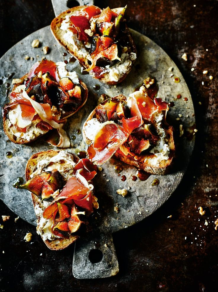 Spanish chef Omar Allibhoy puts sweet figs, creamy cheese, salty ham and crunchy walnuts on toast for an easy and quick tapas idea.