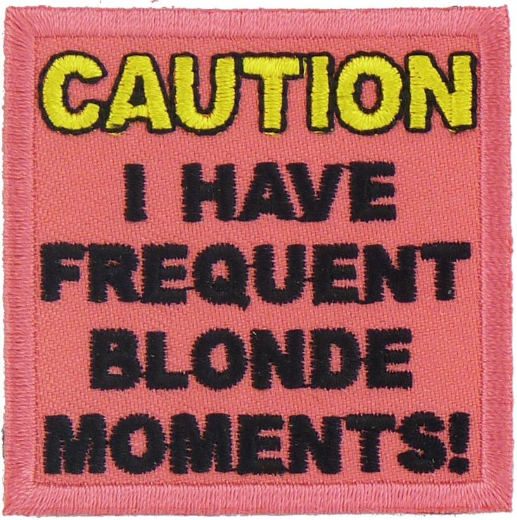 Caution Blonde Moments | Biker Clothing | Women's & Men's Motorcycle Apparel | Biker Clothing Company
