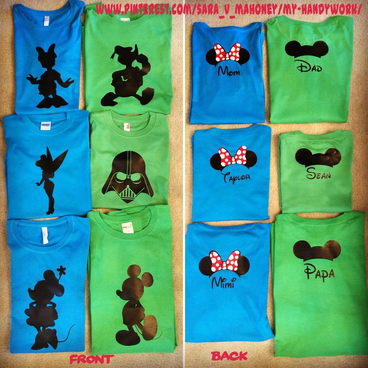 Disney Family Vacation Park T-Shirts using my Silhouette Cameo and HTV                                                                                                                                                                                 More
