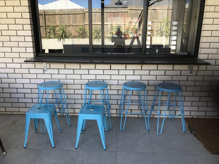 Blue & aqua outdoor decor