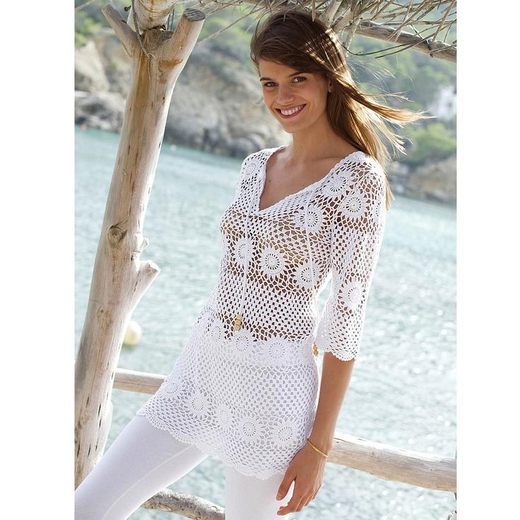 Lace top, blouse, crochet handmade , custom made