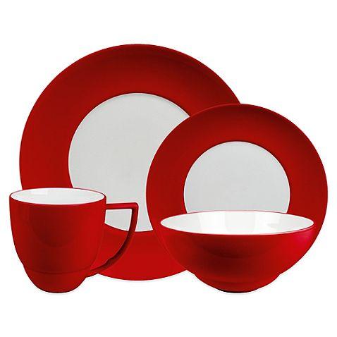 uno 16piece dinnerware set in chili - Modern Dinnerware