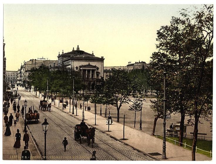 Poznan Poland, Plac Wilhelmowski (obecnie Plac Wolności). Przełom XIX i XX wieku. [fot. Biblioteka Kongresu USA]