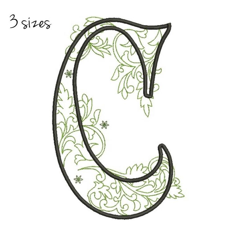 Letter C monogram Alphabet embroidery Letter C monogram machine design pes files digital instant download pattern  hoop file towel designs by SvgEmbroideryDesign on Etsy